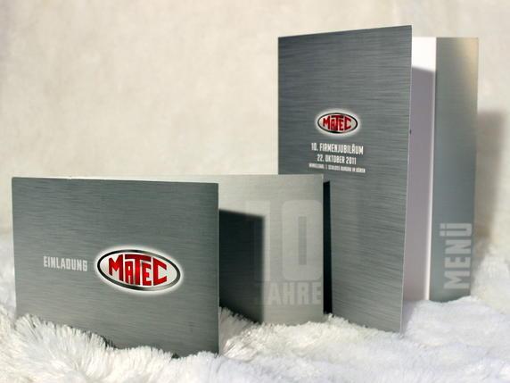Silberdruck mit Metalleindruck